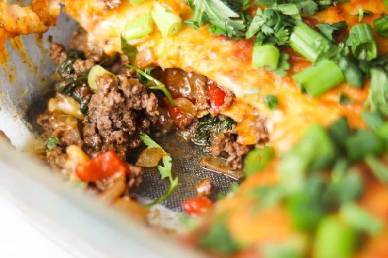 Low Carb Beef Enchilada Casserole | #keto #lowcarb | mincerepublic.com