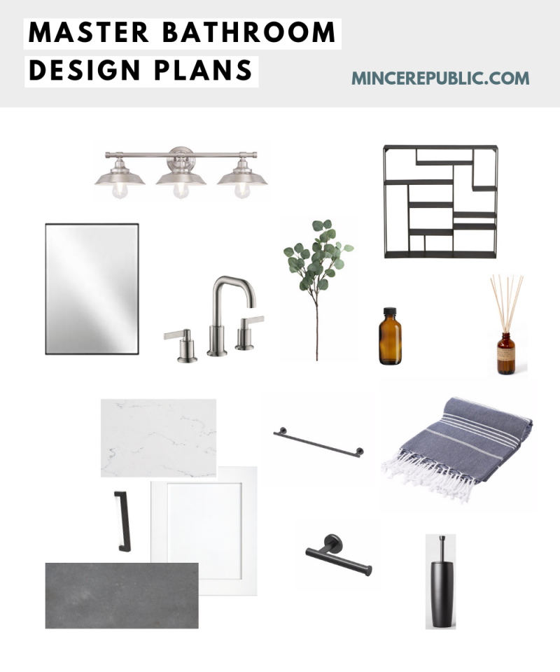 Master Bathroom Makeover: Before Photos & Mood Board | mincerepublic.com