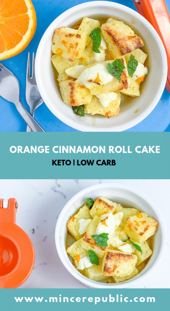 Mince Republic Orange Cinnamon Roll Cake Recipe Keto Low Carb