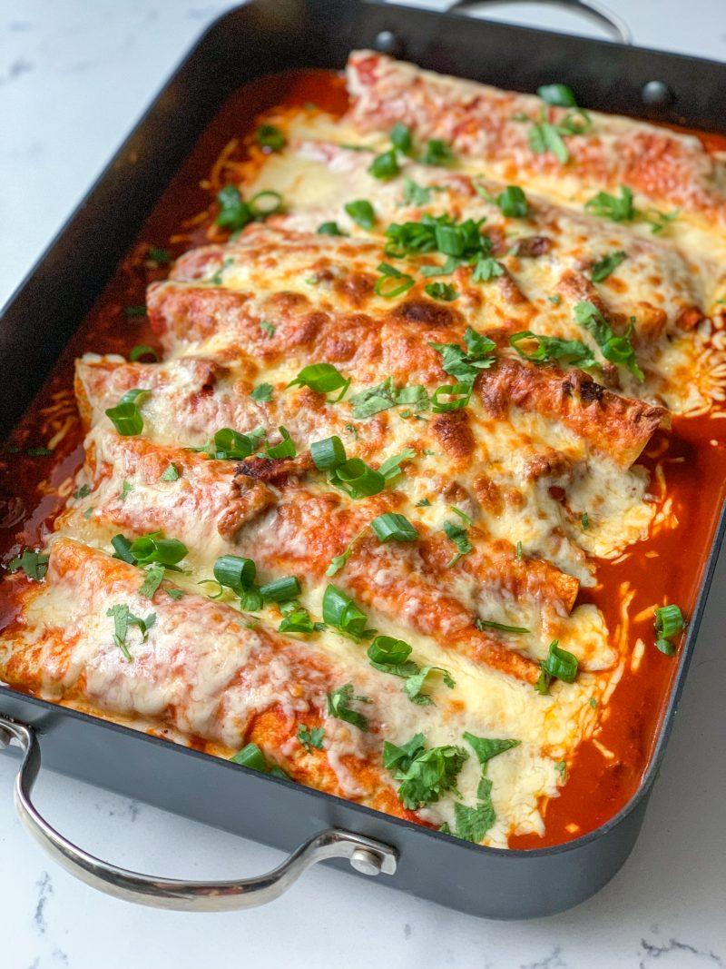 Carne Asada Enchiladas Recipe | #lowcarb #keto | mincerepublic.com
