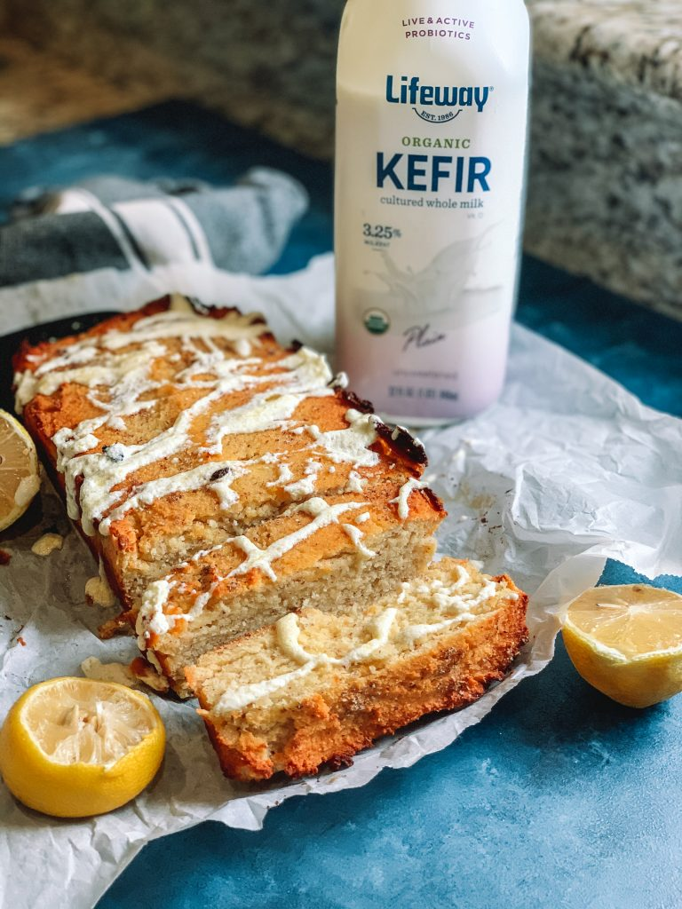 Low Carb Lemon Kefir Loaf Cake Recipe | An easy and satisfying low carb breakfast for a sugar free copycat Starbucks Lemon Loaf | #lowcarb #keto | mincerepublic.com