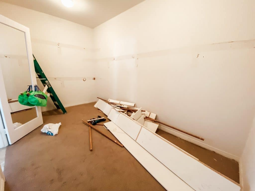closet shelves ripped off walls