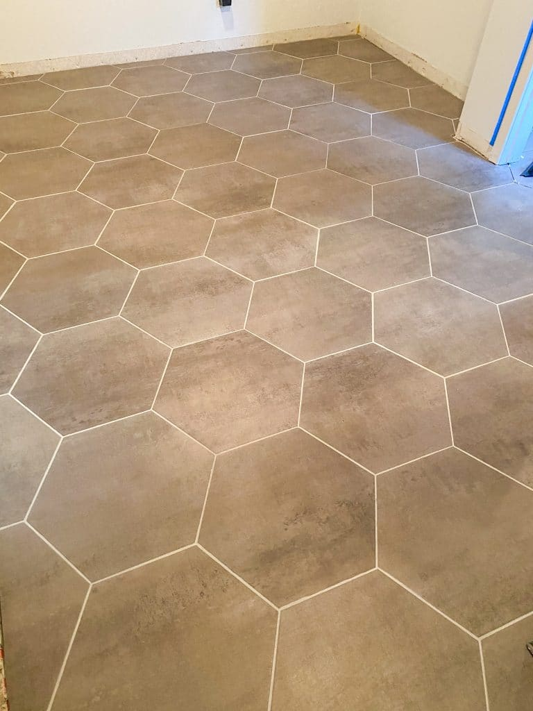new tile hexagon concrete look