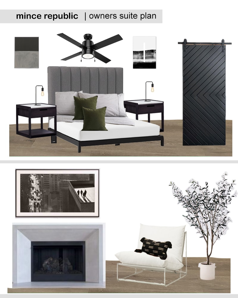 owners suite bedroom makeover mood board